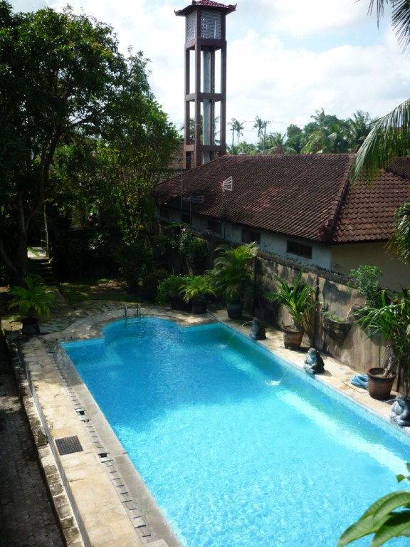 Vue piscine logement bali