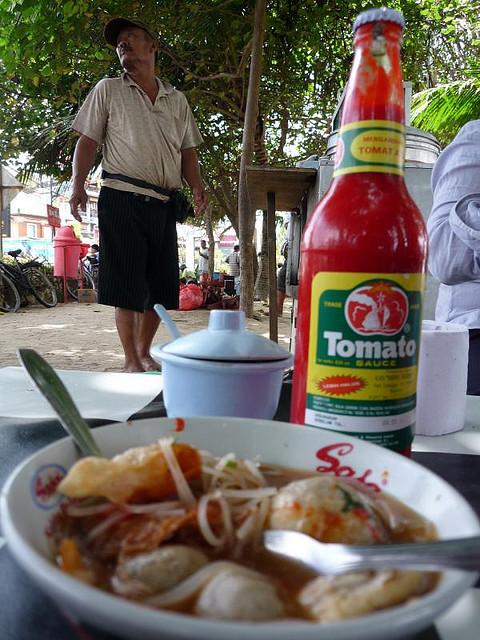 Soupe Bakso sur la plage Bali