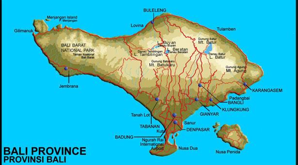 Carte Bali Lieux Touristique.Carte De Bali Carte Touristique Carte Routiere Et Autres