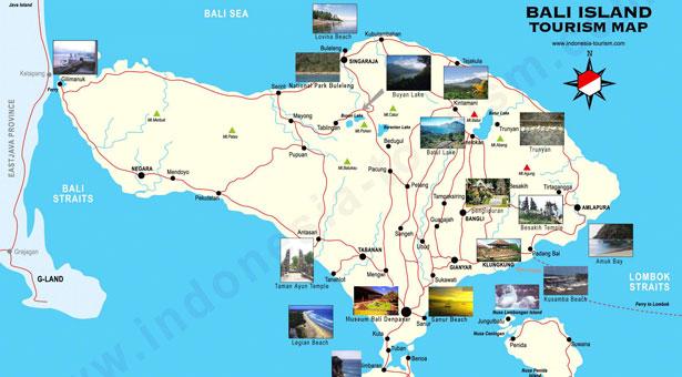 Carte Routiere Ubud Bali.Carte De Bali Carte Touristique Carte Routiere Et Autres