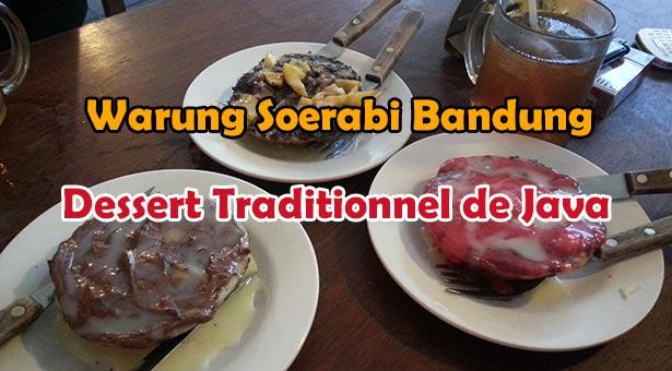 Dessert traditionnel de Java chez Warung Soerabi Bandung