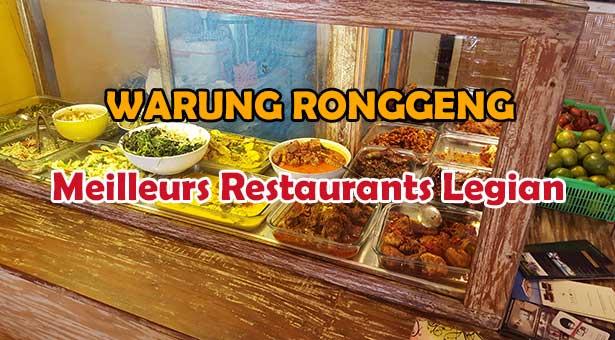 Warung Ronggeng Meilleur Restaurant Indonésien Legian Seminyak Pas Cher