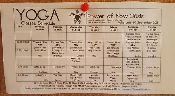 Sanur-Yoga-the-power-of-now-oasis-Schedule-Emploi-du-temps