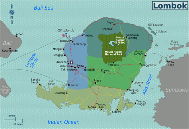 Carte Lombok Regions Lombok_Regions_map Blog bali