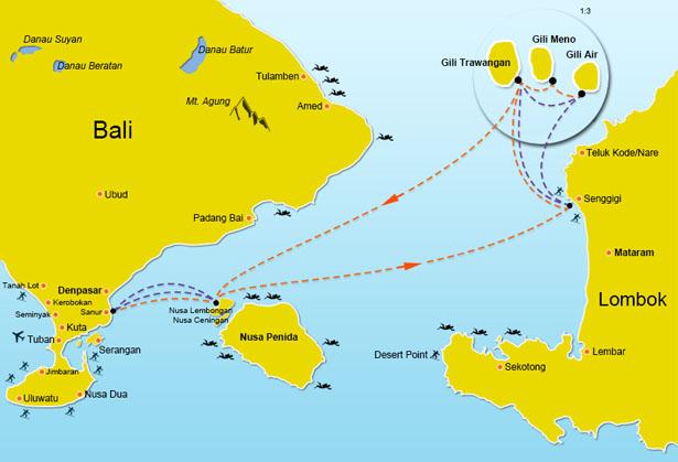 Scoot Cruises Fast Boat Speed Boat Bateau Rapide Bali Nusa Lembongan Gili Trawangan Gili Air Gili Meno