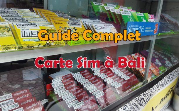 Guide complet pour acheter et utiliser une carte Sim 3G 4G à Bali