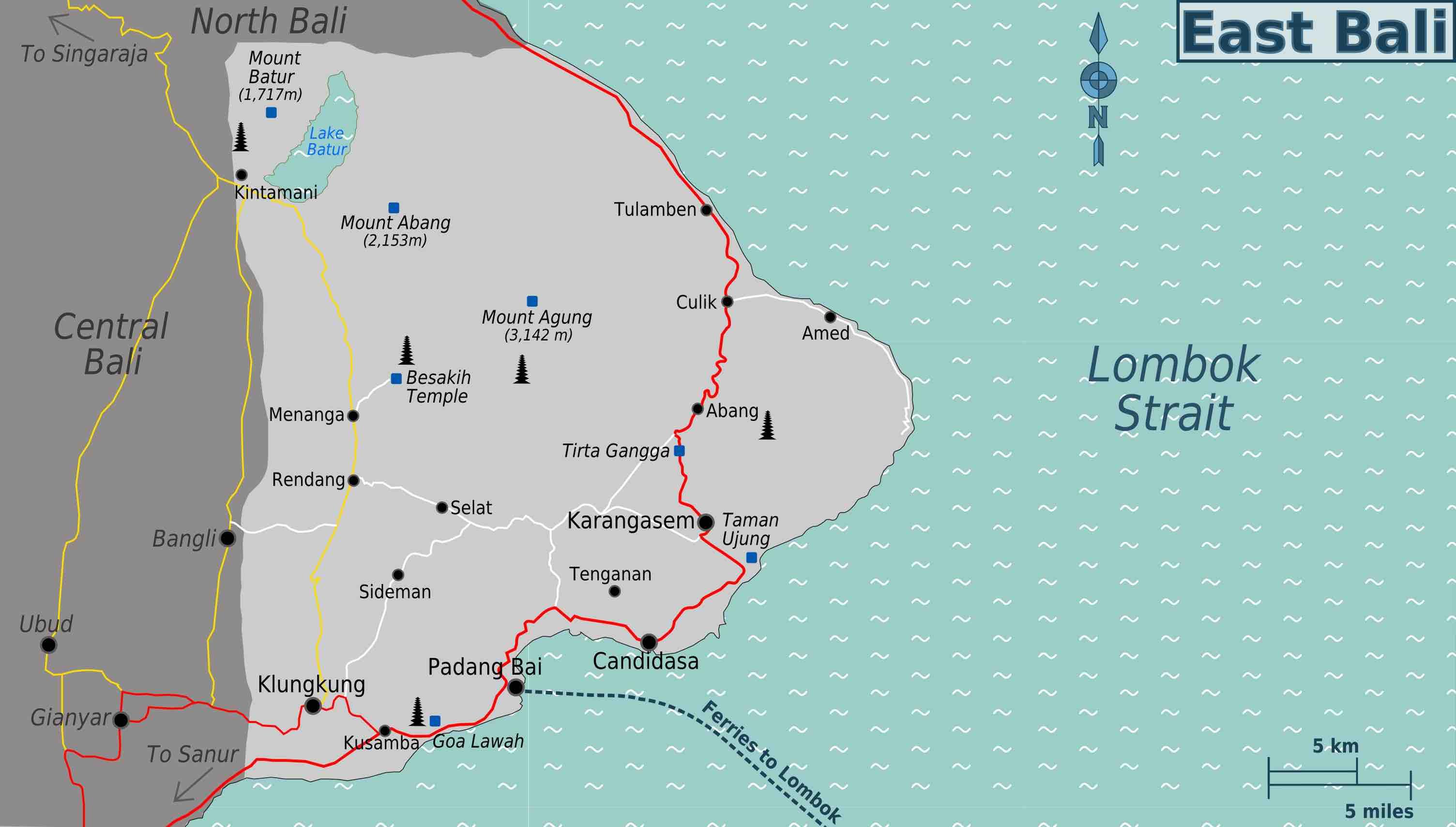 Carte Bali Candidasa.Guide Complet Pour Visiter L Est De Bali Candidasa Amed