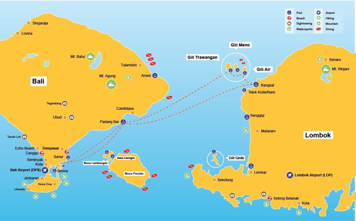 Carte Bali Et Gili.L Ile Gili Air A Lombok Guide Complet Lebaliblog