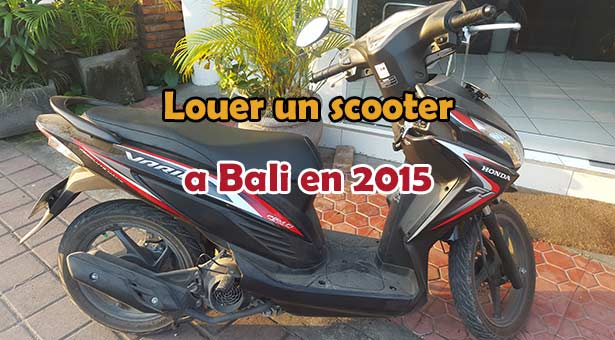 Louer un scooter a Bali