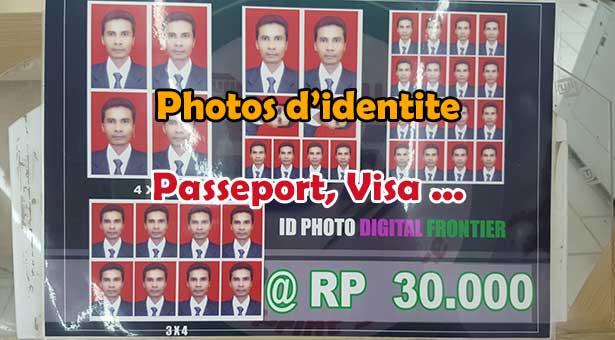 Faire vos photos d'Identite Passeport et Visa a Bali